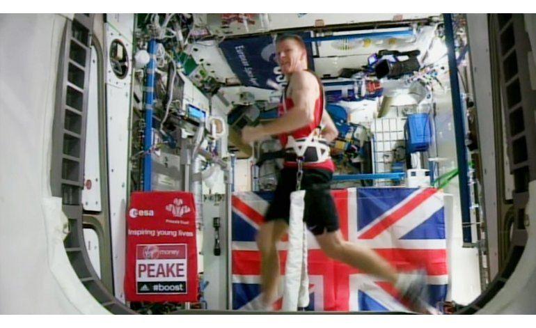 Astronauta completa Maratón de Londres en el espacio