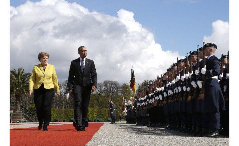 Obama elogia en Alemania pactos comerciales internacionales