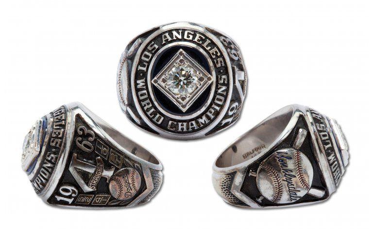 Subastan anillo de la Serie Mundial de 1963 de Don Drysdale
