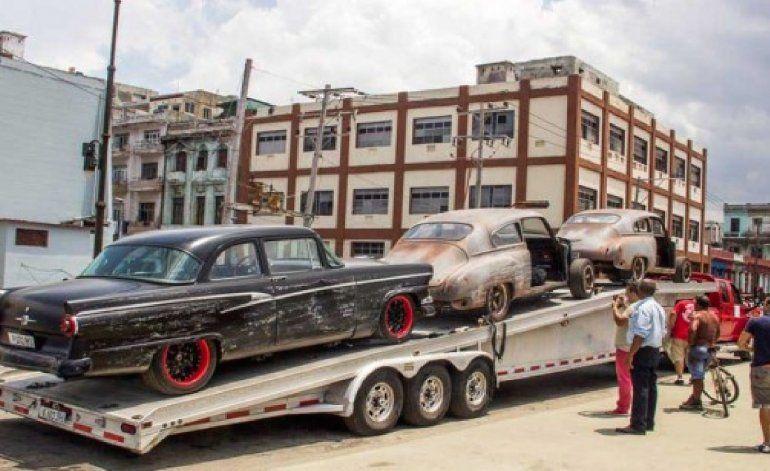 Imágenes del rodaje de Furious 8 en La Habana