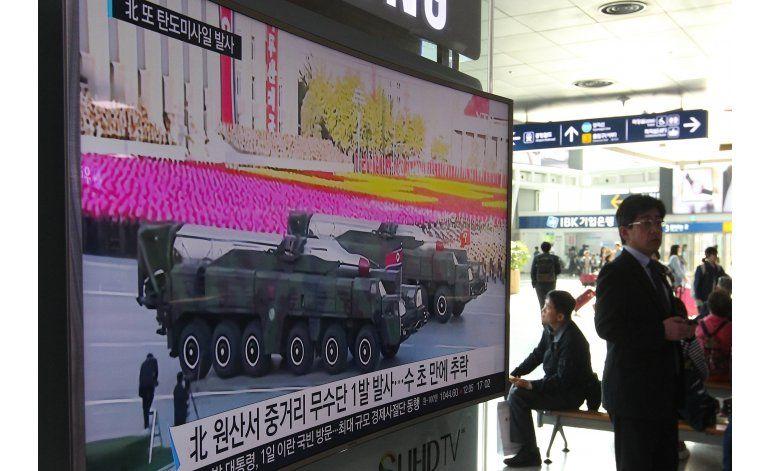 Reportan otro lanzamiento fallido de un misil norcoreano