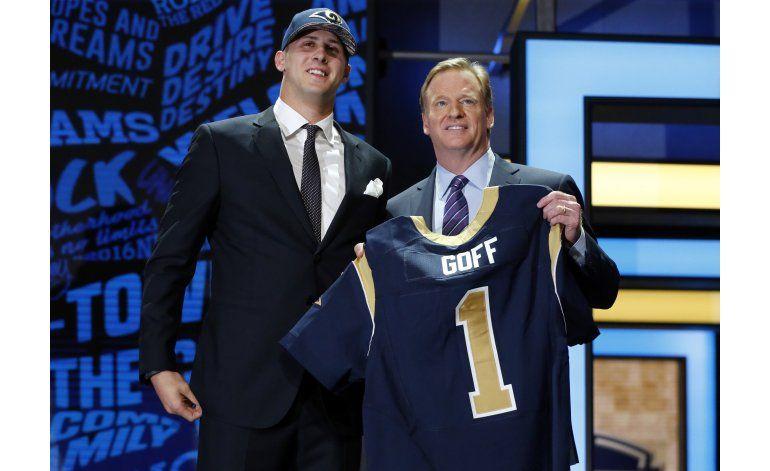 Rams reclutan a Goff, como 1ra selección del draft