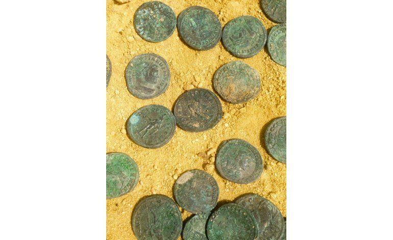 España: Hallan tesoro romano por accidente durante obras