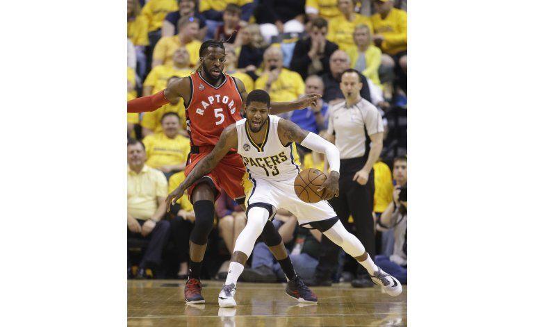 Pacers vencen a Raptors y alargan serie a decisivo 7mo juego