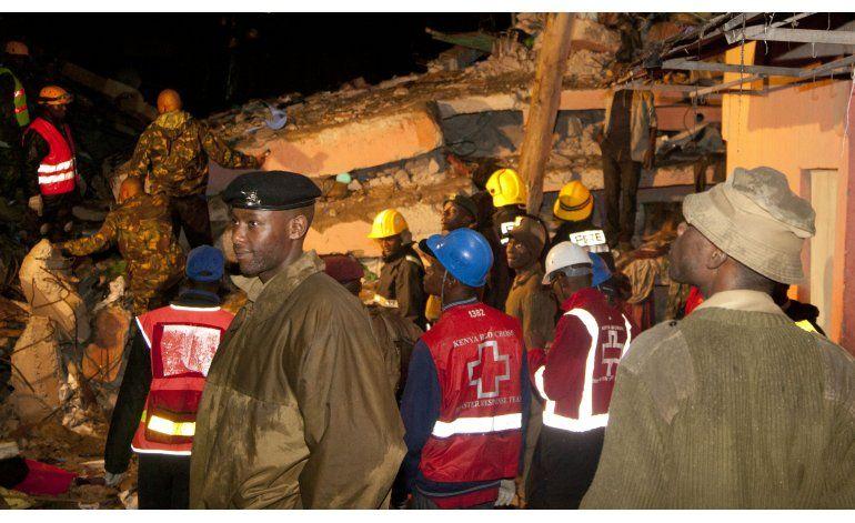 Policía Kenia: 12 muertos en derrumbe de edificio en Nairobi