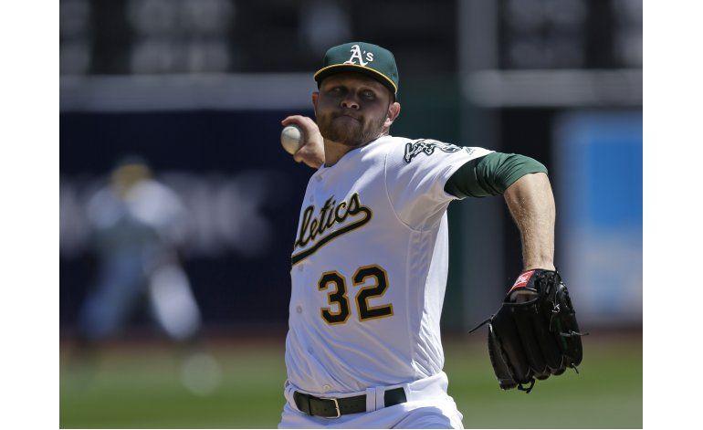 Hahn domina en el montículo, Atléticos blanquean a Astros