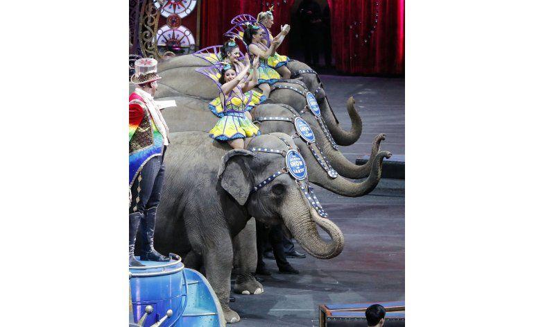 Elefantes actúan por última vez en el circo Ringling Bros.