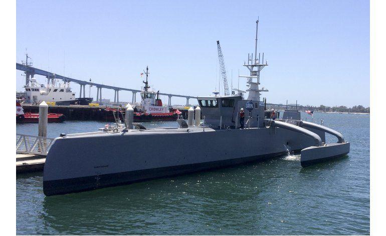EEUU prueba embarcación autónoma capaz de cruzar océanos