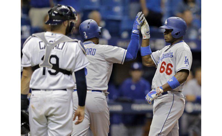 Ofensiva de Dodgers despierta para vencer 10-5 a Rays