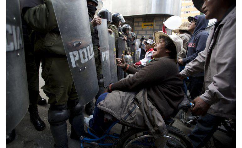 Discapacitados se manifiestan nuevamente en Bolivia