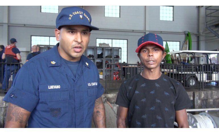 Colombiano se reúne con su familia tras semanas a la deriva