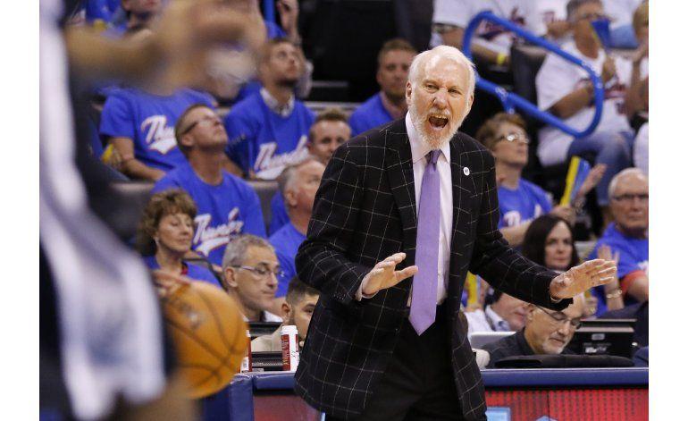 Los Spurs ganan 100-96 al Thunder, se ponen 2-1 arriba
