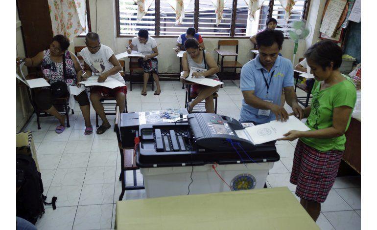 Comienzan las elecciones en las Filipinas