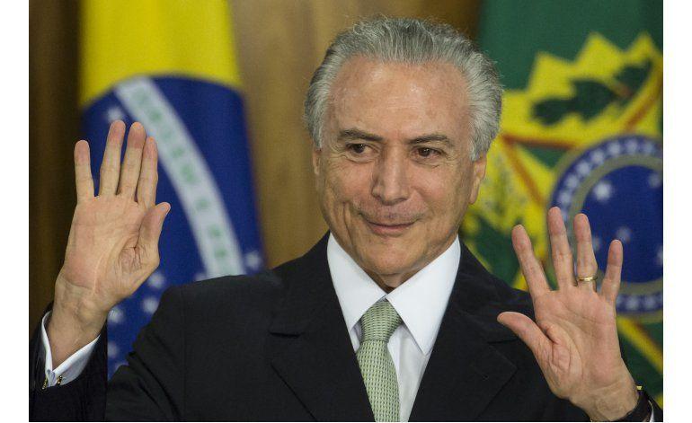Temer promete reactivar la economía de Brasil