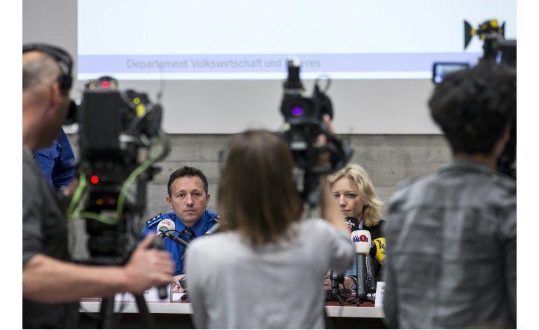Autoridades en Suiza arrestan a un sospechoso de matar a 4