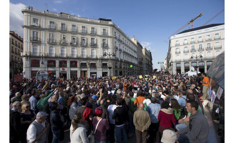 Conmemoran en Madrid 5 años del movimiento de los Indignados
