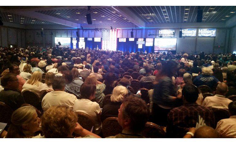 Concluye la Convención Demócrata en Nevada con tensión