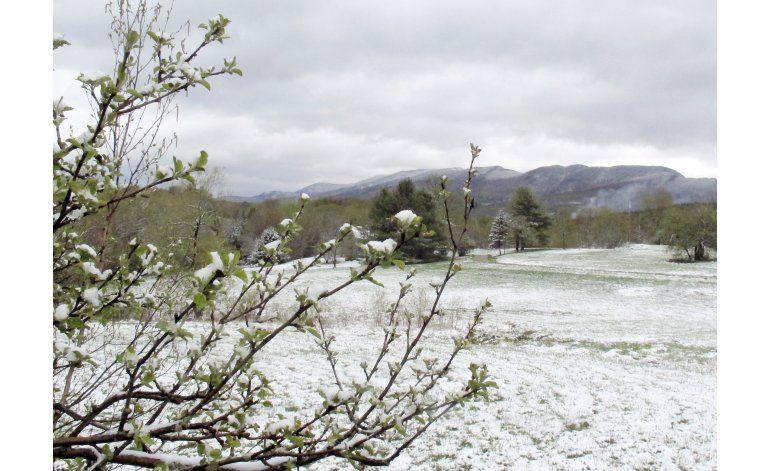 El noroeste de EEUU despierta con nevada primaveral