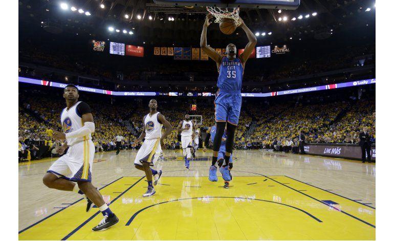 Durant, Westbrook y el Thunder sorprenden también a Warriors