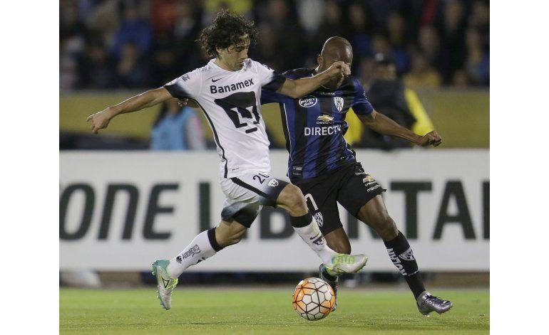 Independiente del Valle saca ventaja de 2-1 ante Pumas