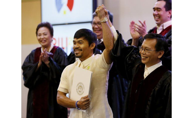 Pacquiao ingresa al Senado; ¿trampolín hacia la presidencia?