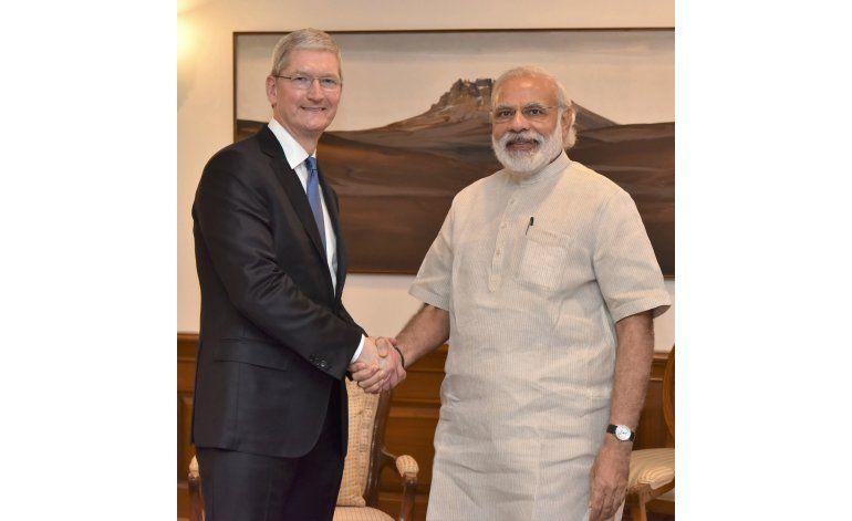 Director general de Apple se reúne con primer ministro indio