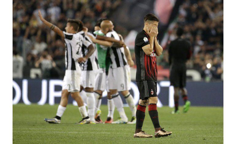 Juventus vence 1-0 al AC Milan y gana la Copa de Italia