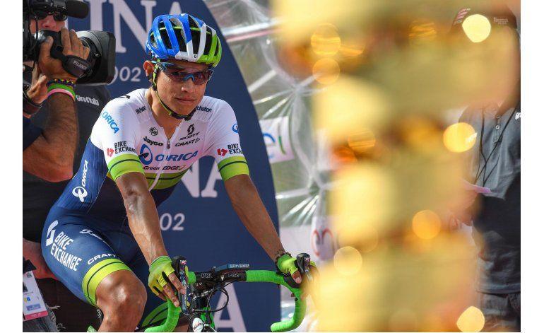 Colombiano Chaves, 2do en la general del Giro