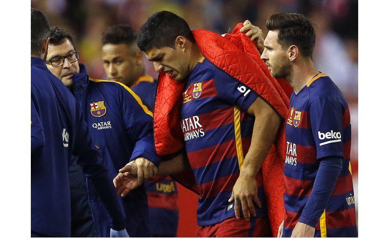 Lesión de Suárez enciende alarma para Copa América