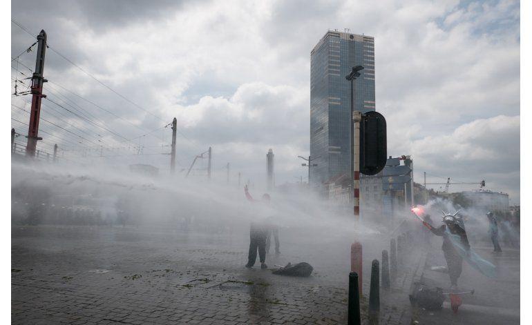 Protestas en Bélgica contra reformas económicas y sociales