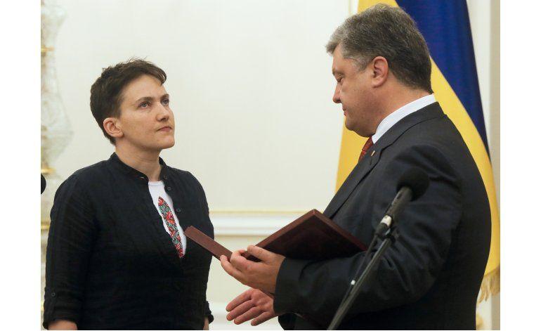 Rusia excarcela a piloto ucraniana luego de dos años