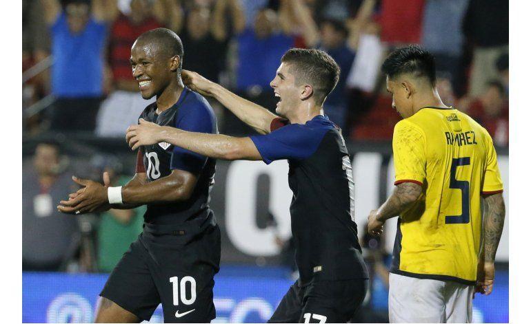 EEUU vence 1-0 a Ecuador con gol sobre la hora