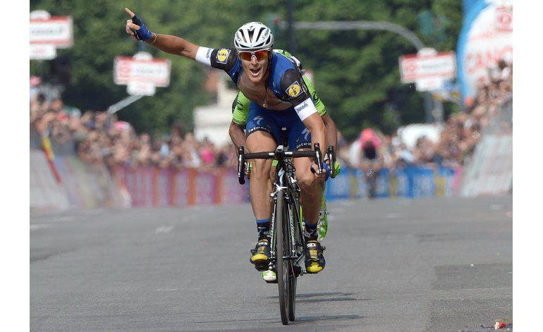 Trabajo en equipo permite a Trentin ganar 18va etapa de Giro