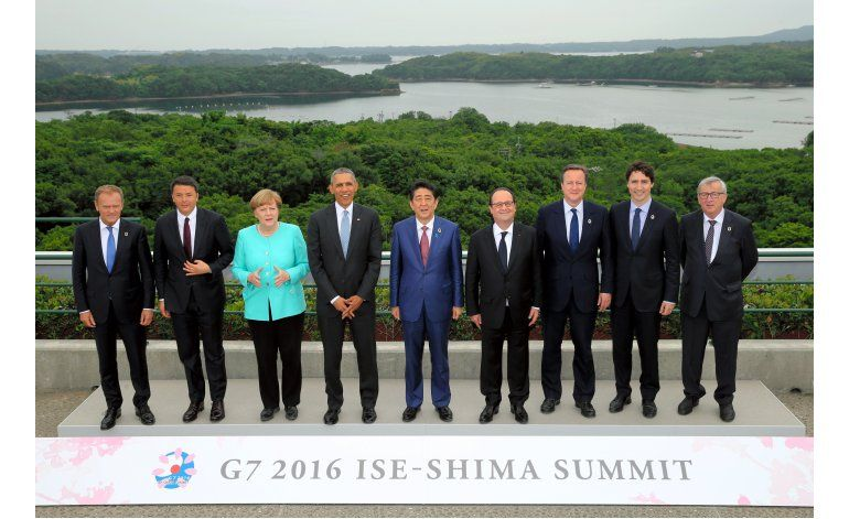 Líderes del G7 prometen acción colectiva sobre crecimiento