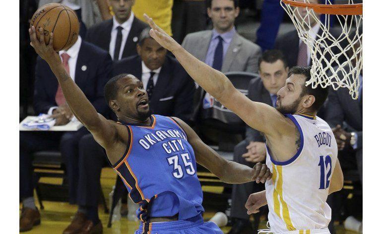 Los Warriors vencen al Thunder y evitan la eliminación