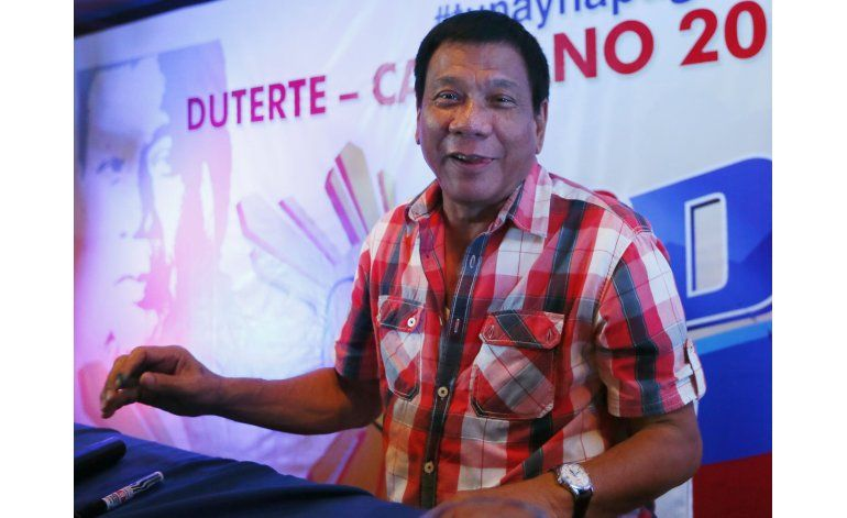 Duterte gana la presidencia de Filipinas en recuento oficial