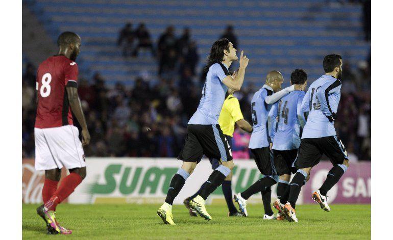 Uruguay remonta y vence 3-1 a Trinidad Tobago
