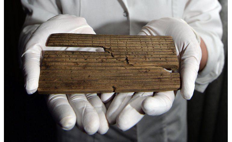 Hallan en Londres tablillas de casi 2.000 años de antigüedad