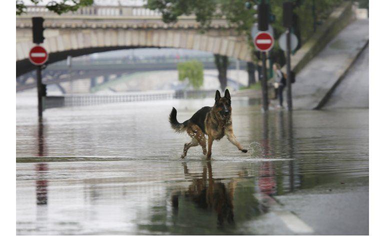 Lluvia golpea a Francia; el Sena se desborda en París