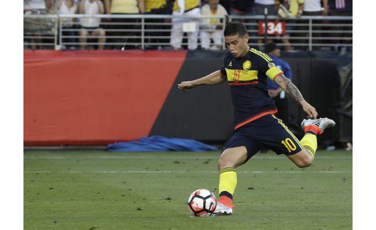 James Rodríguez, titular en partido Colombia-Paraguay