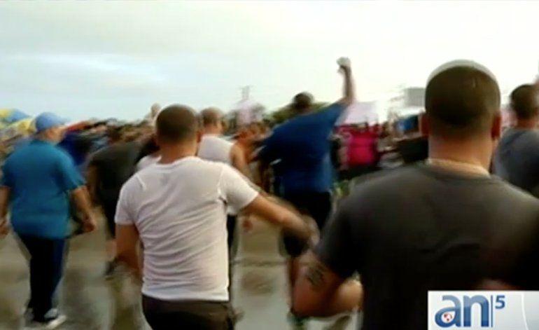 Arrestos en la protesta de los camioneros en Miami