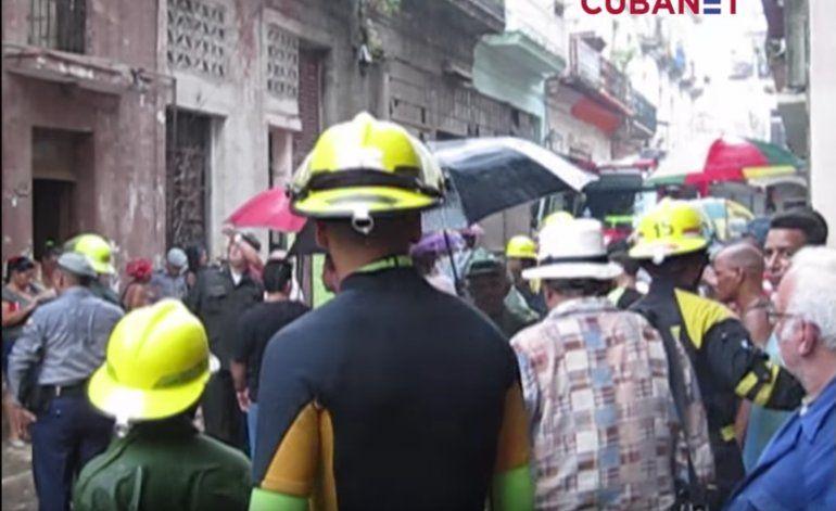 Derrumbe en La Habana Vieja tras cuatro días de lluvias