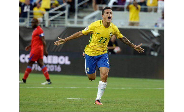 Hat trick de Coutinho lidera goleada de Brasil a Haití