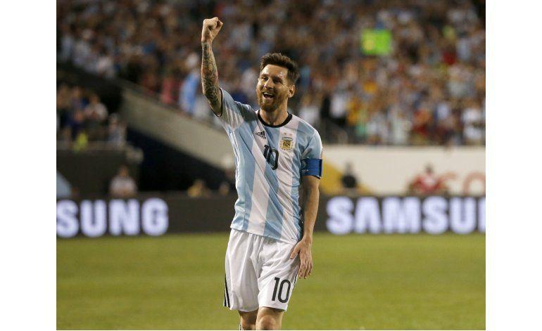 Messi a un gol de Batistuta en la selección argentina