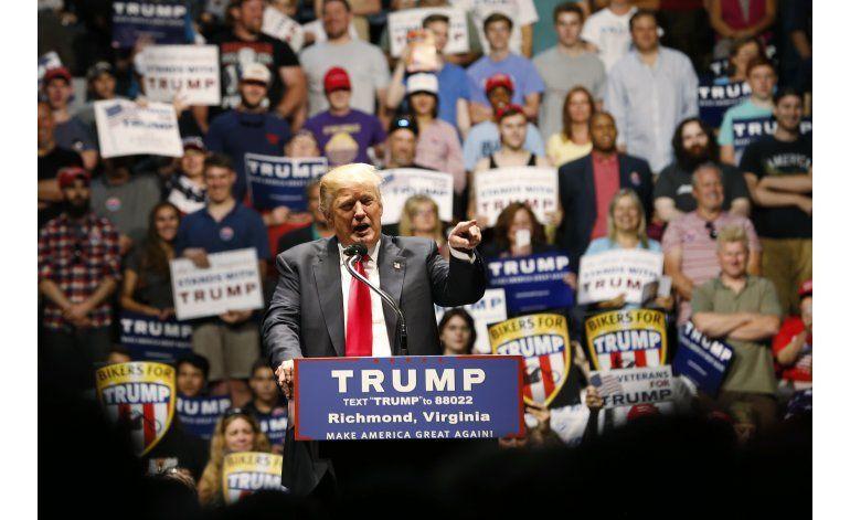 Republicanos presionan para que Trump evite controversias