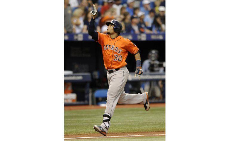 Con jonrones de Gómez y Valbuena, Astros se imponen a Rays