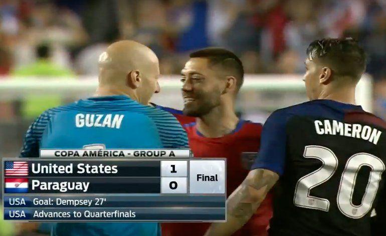Estados Unidos logra un gran triunfo ante Paraguay y se mete en cuartos
