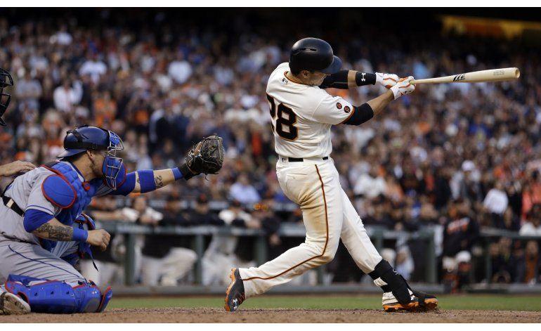 Posey impulsa la victoria de Gigantes sobre Dodgers por 5-4