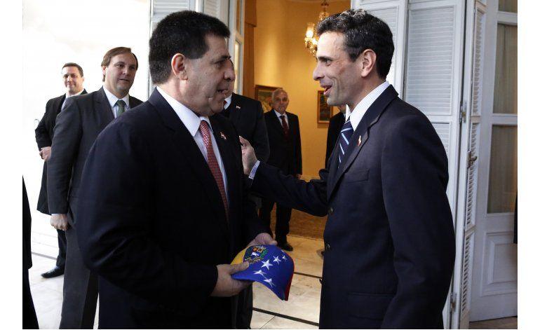 Opositor venezolano Capriles viaja en busca apoyo en OEA
