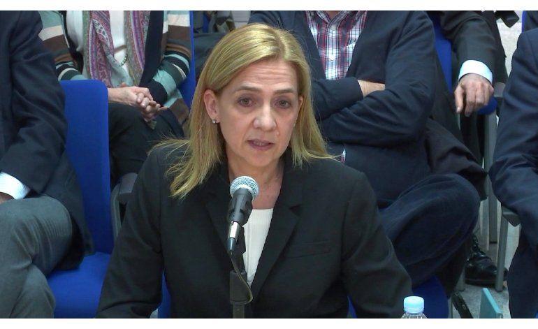 Infanta española Cristina acude a final de juicio por fraude